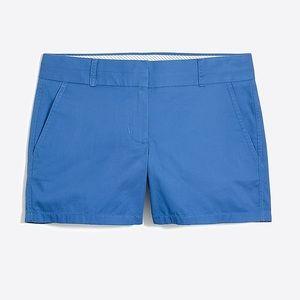 "J. Crew ""Chino"" Blue Shorts"